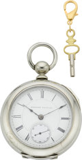 Timepieces:Pocket (pre 1900) , Hampden Early Keywind, circa 1881. ...