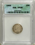 Bust Dimes: , 1832 10C VF35 ICG. NGC Census: (4/225). PCGS Population (7/233). Mintage: 522,500. Numismedia Wsl. Price for NGC/PCGS coin ...
