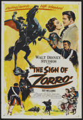 "Movie Posters:Adventure, The Sign of Zorro (Buena Vista, 1960). One Sheet (27"" X 41"").Adventure...."