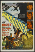 "Movie Posters:War, Bombardier (RKO, 1943). One Sheet (27"" X 41"") Style A. War...."