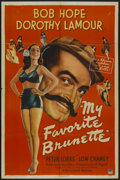 "Movie Posters:Comedy, My Favorite Brunette (Paramount, 1947). One Sheet (27"" X 41"") Style A. Comedy...."