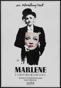 "Movie Posters:Documentary, Marlene (Alive Films, 1986). One Sheet (27"" X 40""). Documentary...."