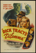 """Movie Posters:Crime, Dick Tracy's Dilemma (RKO, 1947). One Sheet (27"""" X 41"""") Style A.Crime...."""