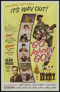 "Movie Posters:Rock and Roll, Go, Johnny, Go! (Hal Roach, 1959). One Sheet (27"" X 41""). Rock andRoll...."