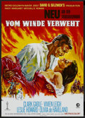 "Movie Posters:Academy Award Winner, Gone with the Wind (MGM, R-1980s). German A1 (23.5"" X 33""). AcademyAward Winner...."