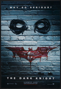"""The Dark Knight (Warner Brothers, 2008). One Sheet (27"""" X 40"""") DS Advance Style B. Action"""