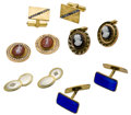 Estate Jewelry:Cufflinks, Diamond, Multi-Stone, Enamel, Platinum, Gold, Silver Cuff LinksLot. ... (Total: 10 Items)