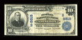 National Bank Notes:Virginia, Abingdon, VA - $10 1902 Plain Back Fr. 626 The Peoples NB Ch. #(S)8819. ...
