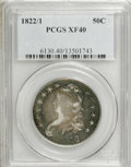 Bust Half Dollars: , 1822/1 50C XF40 PCGS. PCGS Population (5/53). NGC Census: (3/69).Numismedia Wsl. Price for NGC/PCGS coin in XF40: $300. (...