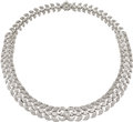 Estate Jewelry:Necklaces, Diamond, Platinum Necklace, Sophia D.. ...