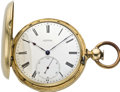 Timepieces:Pocket (pre 1900) , Rosselet Gold Pocket Detent Chronometer, circa 1870. ...