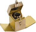 Timepieces:Watch Chains & Fobs, Art Deco Gold Inkwell Form Watch Fob, circa 1930. ...