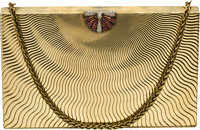 Retro Diamond, Ruby, Gold Purse, Piccini