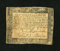 Colonial Notes:Maryland, Maryland August 14, 1776 $2/3 Fine....