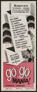 """Movie Posters:Rock and Roll, Go Go Mania (American International, 1965). Insert (14"""" X 36"""").Rock and Roll...."""