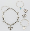 Estate Jewelry:Lots, Smokey Quartz, Sterling Silver, Gold Heart-Themed Jewelry Suite. ... (Total: 17 Items)