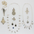Estate Jewelry:Lots, Multi-Stone, Silver Jewelry Lot. ... (Total: 34 Items)