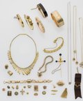 Estate Jewelry:Lots, Multi-Stone, Gold, Gold-Filled, Silver Jewelry Lot. ... (Total: 57 Items)