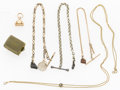 Timepieces:Watch Chains & Fobs, Antique Chain & Fob Lot, circa 1880 to 1910. ...