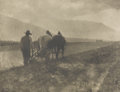Photographs, ALFRED STIEGLITZ (American, 1864-1946). Ploughing, Camerawork, 1904. Photogravure on tissue. Paper: 8-1/2 x 11-3/4 inche...