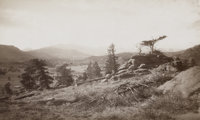 WILLIAM HENRY JACKSON (American, 1843-1942) Long Peak from Estes Park, 1880-1881 Albumen, 1880-1881<