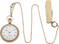 Timepieces:Pocket (pre 1900) , Waltham Pocket Watch with Chain & Knife, circa 1888. ...