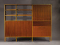 Furniture : American, GEORGE NELSON (American, 1908-1986). A Walnut and Birch BSC (Basic Storage Components) Room Divider, manufactured by Herman ...