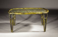 "Furniture : American, PHILIP AND KELVIN LAVERNE. A Bronze and Pewter ""Tree of Life""Coffee Table, circa 1960. Signed on top: Philip + KelvinLaV..."