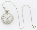 Timepieces:Pocket (post 1900), Hamilton 912 with Box & Gold Chain, circa 1925. ...