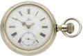 Timepieces:Pocket (post 1900), Omega Fancy Dial Pocket Watch, circa 1905. ...