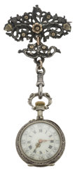 Timepieces:Pocket (pre 1900), Swiss Lady's Repousse with Pin, circa 1897. ...