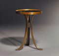 "Furniture , EDWARD WORMLEY (American, 1907-1995). A Laminated Ash and Walnut ""Constellation"" Side Table, manufactured by Dunbar USA, cir..."