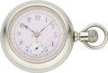 Timepieces:Pocket (pre 1900) , Hampden Fancy Dial Pocket Watch, circa 1888. ...