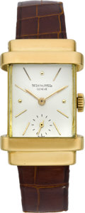 "Timepieces:Wristwatch, Patek Philippe Men's Gold ""Top Hat"" Vintage Wristwatch, circa 1946...."