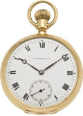 Timepieces:Pocket (post 1900), Vacheron & Constantin Men's Gold Pocket Watch, circa 1907. ...