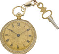Timepieces:Pocket (pre 1900) , Henry Pace London Lady's Gold Lever Fusee, circa 1860. ...