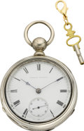Timepieces:Pocket (pre 1900) , Waltham Appleton Tracy & Co. Sterling Keywind, circa 1874. ...