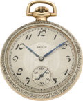 Timepieces:Pocket (pre 1900) , Elgin Rare Grade 162, 21 Jewel Model, circa 1897 . ...