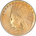 Indian Eagles, 1910-S $10 MS66 PCGS....