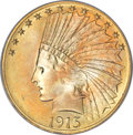 Indian Eagles, 1915-S $10 MS66 PCGS....