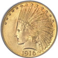 Indian Eagles, 1916-S $10 MS67 PCGS....