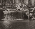 Photography :20th Century , ALVIN LANGDON COBURN (British, 1882-1966). Fountain at Trevi, Rome, circa 1900. Platinum print, circa 1900. 3-1/2 x 4-1/...