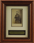 Military & Patriotic:Civil War, Union General Lew Wallace Framed Carte de Visite Taken by Mathew Brady. The image is matted with the visible portion...