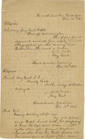 """Autographs:Military Figures, Confederate General Gustavus Woodson Smith, December 16, 1862Document Signed Three Times. """"G. W. Smith."""" One page,7.25..."""