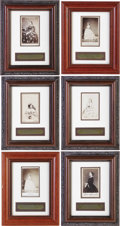 Military & Patriotic:Civil War, Mary Todd Lincoln Set of Six Cartes de Visite Taken by Mathew Brady, Framed Individually. Each CDV is matted, with t... (Total: 6 )