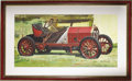 Illustration:Magazine, OLEG STAVROWSKY (American b.1927) . 1907 Fiat Grand PrixRacer . Oil on board . 31 x 49in. . Signed lower right...