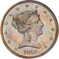 Patterns, 1839 P50C Half Dollar, Judd-96 Restrike, Pollock-104, R.8, PR66 Brown NGC....