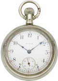 Timepieces:Pocket (pre 1900) , Elgin Pocket Watch with Deer Motif, circa 1894. ...