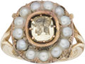 Estate Jewelry:Rings, Victorian Glass, Pearl, Gold Ring. ...