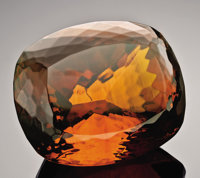 "FACET-CUT AMBER ""GEMSTONE"""